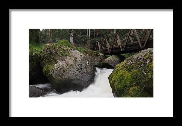 River Framed Print featuring the photograph River Bridge by Lois Romer