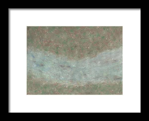 River Framed Print featuring the painting River From Above by Ana Aguiar