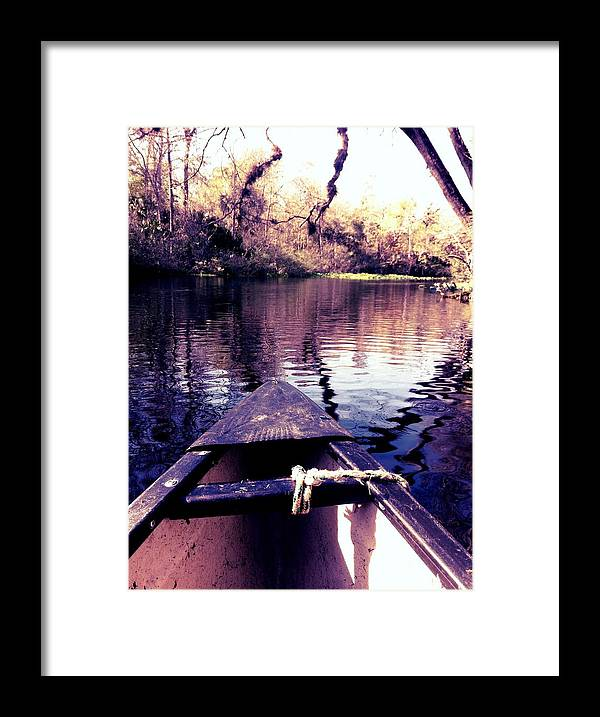 Framed Print featuring the photograph River by Justin Hoogeveen
