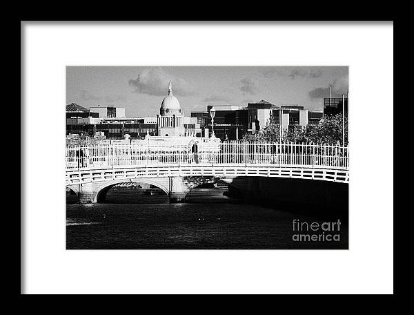 Dublin Framed Print featuring the photograph River Liffey Dublin City Center by Joe Fox