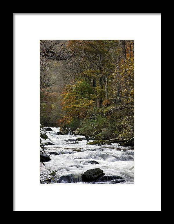 River Lyn Framed Print featuring the photograph River Lyn In Autumn by Dr Keith Wheeler