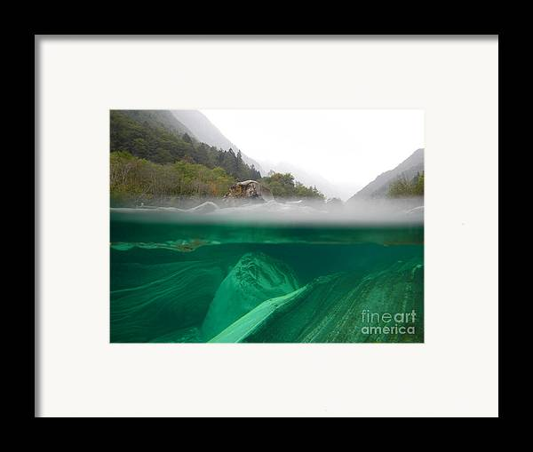 Under The Water Framed Print featuring the photograph River by Mats Silvan
