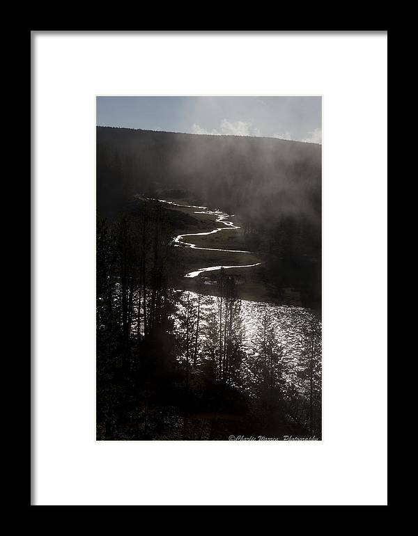 River Framed Print featuring the photograph River Of Silver by Charles Warren