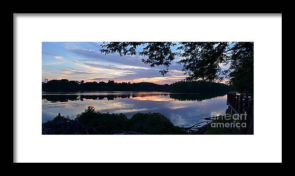 Color Photography Framed Print featuring the photograph River Of Tranquility by Sue Stefanowicz