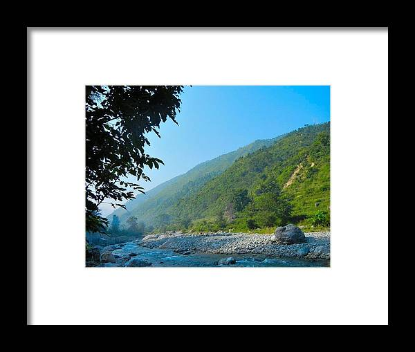 River Framed Print featuring the photograph River View by Manoj Upreti