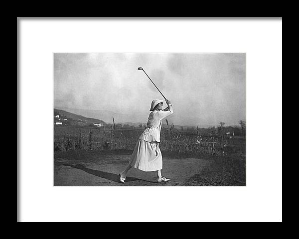 Riviera Golf Framed Print By J W Brooke