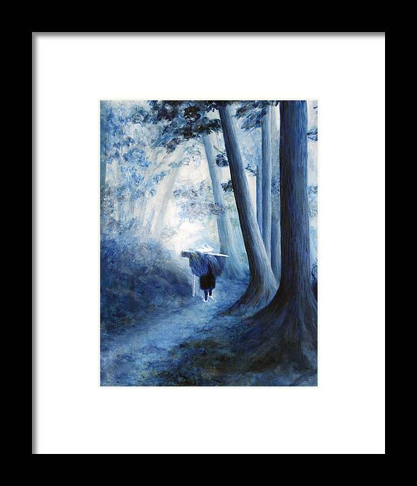 Trees Framed Print featuring the painting Road Home by Donna Walsh