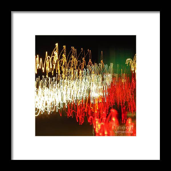 Headlights Framed Print featuring the photograph Road Shine by Rrrose Pix