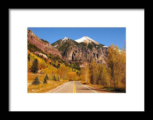 Fine Art Photography Framed Print featuring the photograph Road To Adventure by David Lee Thompson