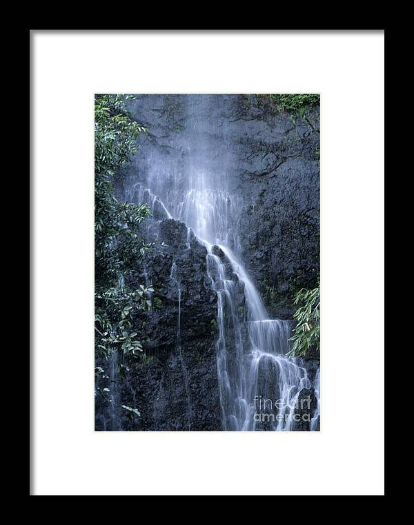 Waterfall Framed Print featuring the photograph Road To Hana Waterfall by Sandra Bronstein