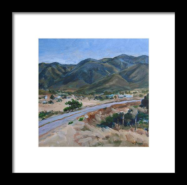 Landscape Framed Print featuring the painting Road To Punta Banda by Kellie Straw