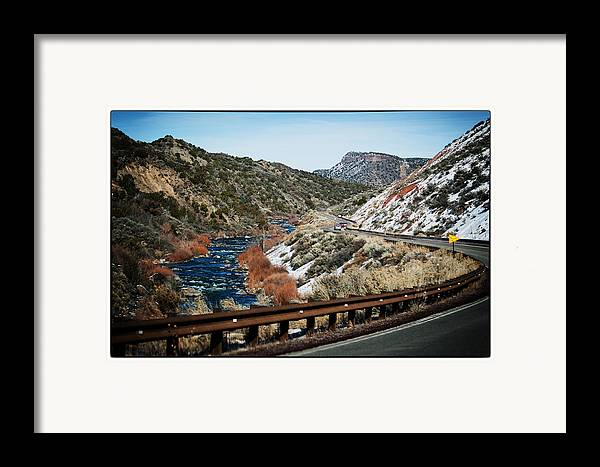 Nature Framed Print featuring the photograph Road To Taos Village 1 by Lisa Spencer