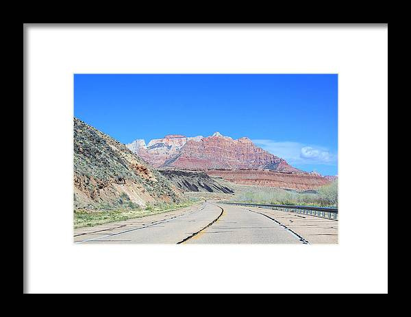 Road To Zion Framed Print featuring the photograph Road To Zion by Viktor Savchenko