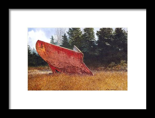 Landscape Framed Print featuring the painting Road Warrior by Tom Wooldridge