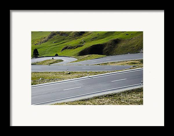 Mountain Framed Print featuring the photograph Road With Curves by Mats Silvan