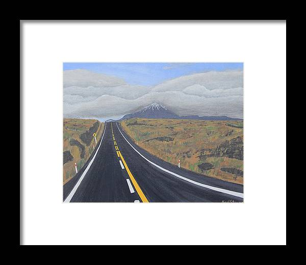 Highway Framed Print featuring the painting Roadtrip by Neil Stewart