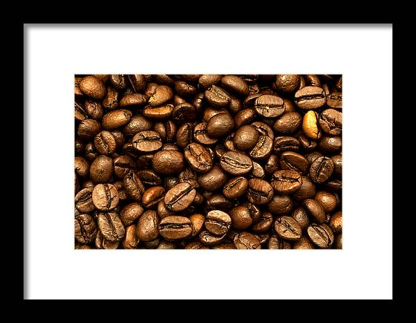 Macro Framed Print featuring the photograph Roasted Coffee Beans by Fabrizio Troiani