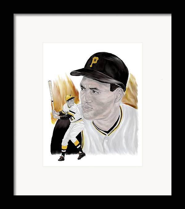 Roberto Clemente Framed Print featuring the painting Roberto Clemente by Steve Ramer