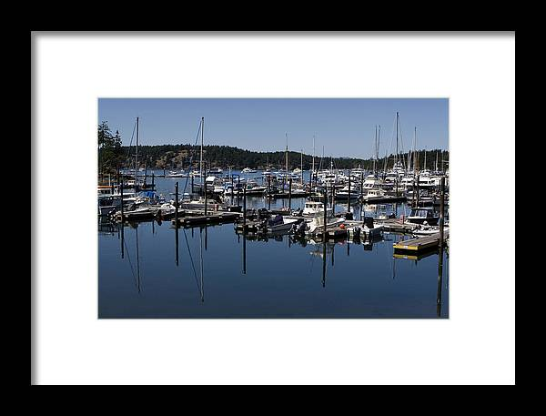San Juan Islands Framed Print featuring the photograph Roche Harbor Reflected by Lorraine Devon Wilke