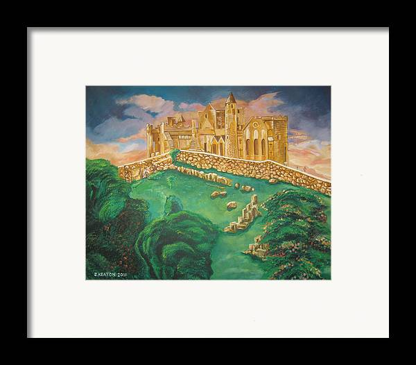 Rock Of Cashel Framed Print featuring the painting Rock Of Cashel-ireland by John Keaton