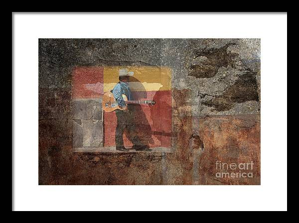 Guitar Framed Print featuring the photograph Rock Star Dreams by Bryan Davies