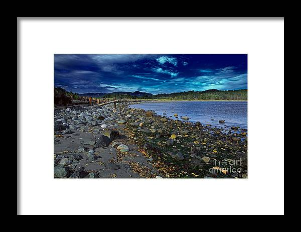 Harbor Framed Print featuring the photograph Rocky Beach In Western Canada by Louise Heusinkveld