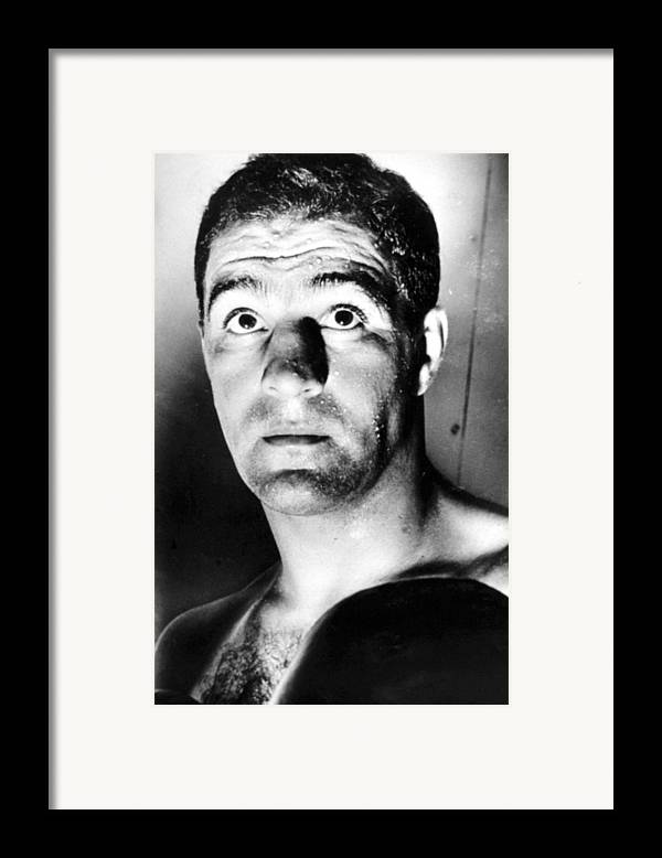 1950s Portraits Framed Print featuring the photograph Rocky Marciano, 1950s by Everett