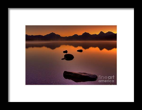 Glacier National Park Framed Print featuring the photograph Rocky Mountain Magic-six-fiftyone Am by James Anderson
