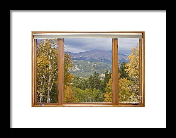 Windows Framed Print featuring the photograph Rocky Mountain Picture Window Scenic View by James BO Insogna
