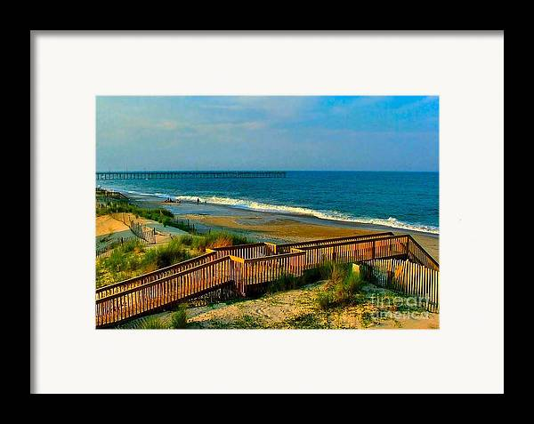 Framed Print featuring the photograph Rodanthe On The Outer Banks by Julie Dant