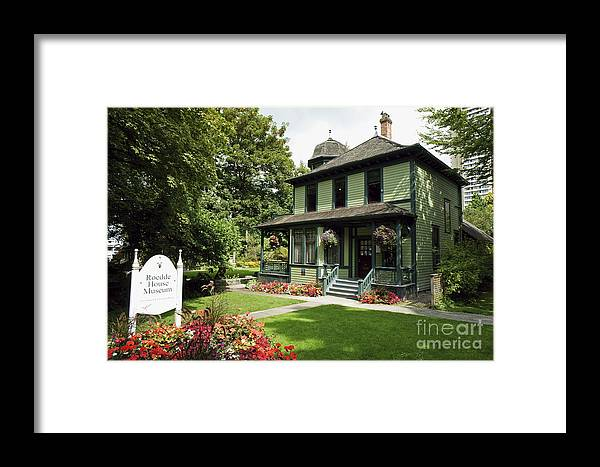 Vancouver Framed Print featuring the photograph Roedde House Museum Vancouver Canada by John Mitchell