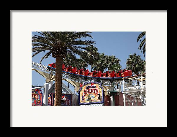 Disney Framed Print featuring the photograph Roller Coaster - 5d17628 by Wingsdomain Art and Photography