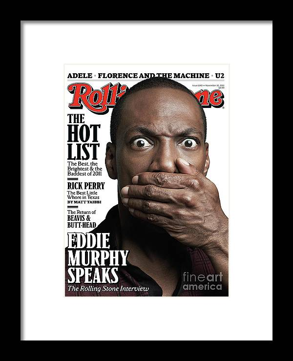 Eddie Murphy Framed Print featuring the photograph Rolling Stone Cover - Volume #1143 - 10/27/2011 - Eddie Murphy by Mark Seliger