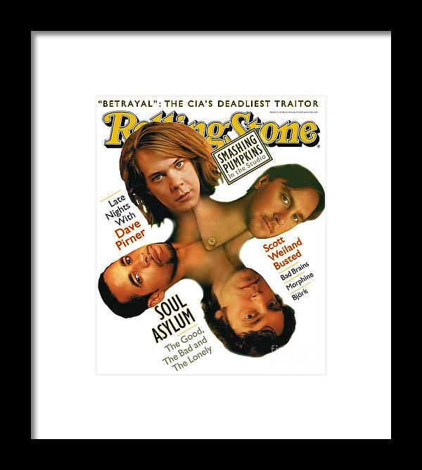 Soul Asylum Framed Print featuring the photograph Rolling Stone Cover - Volume #711 - 6/29/1995 - Soul Asylum by Matt Mahurin