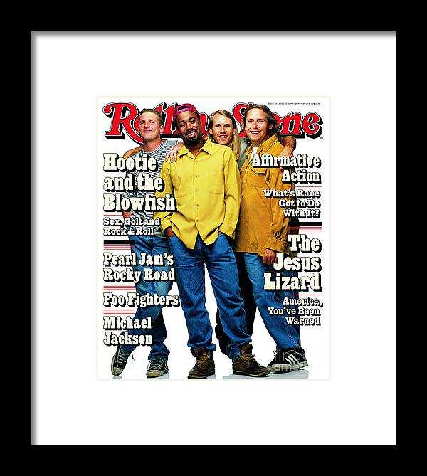 Hootie And The Blowfish Framed Print featuring the photograph Rolling Stone Cover - Volume #714 - 8/10/1995 - Hootie And The Blowfish by Mark Seliger