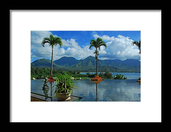 Fountain Framed Print featuring the photograph Rooftop Fountain In Paradise by Lynn Bauer