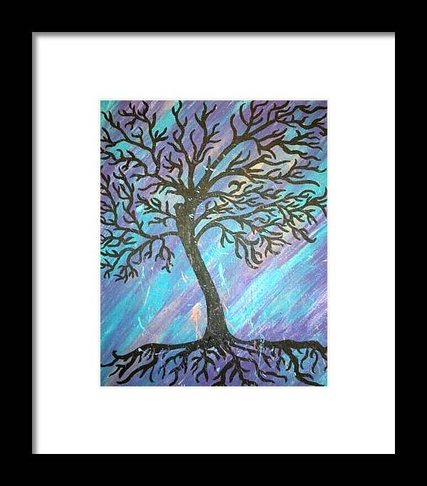 Framed Print featuring the painting Roots To A New Beginning by Alisha Harrison