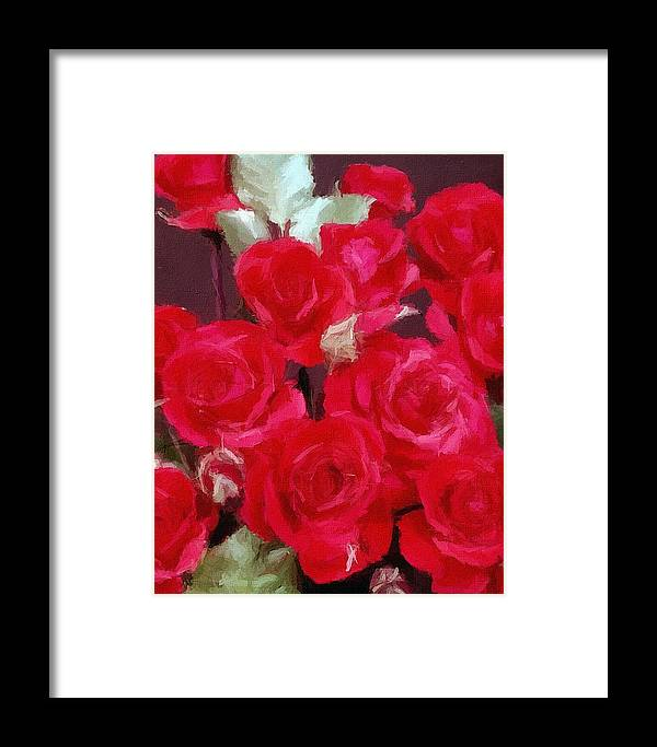 Framed Print featuring the painting Rose Bunch by Hannah Walton