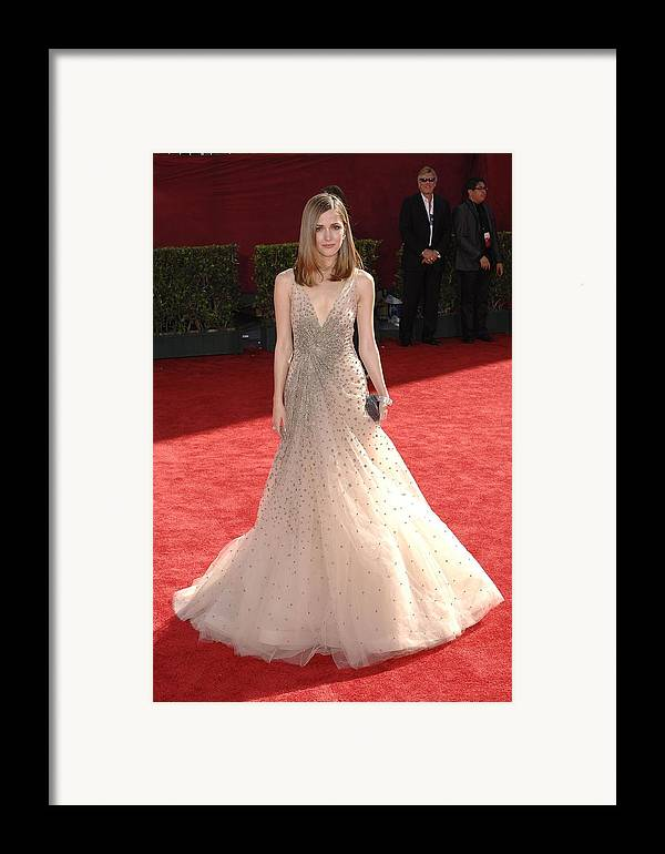 Rose Byrn Framed Print featuring the photograph Rose Byrne Wearing A Valentino Gown by Everett