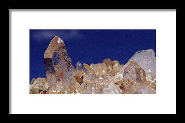Rock Framed Print featuring the photograph Rose Crystals by Tony and Kristi Middleton