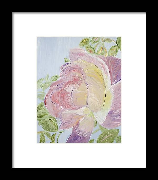 Rose Framed Print featuring the painting Rose by Leona Bushman