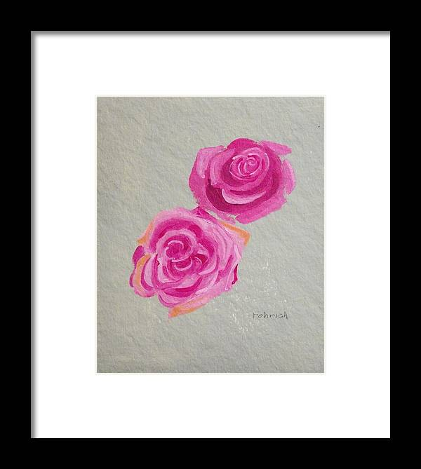 Rose Flowers Framed Print featuring the painting Rose Study by Robert Rohrich