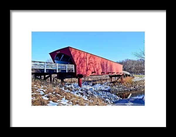 Roseman Covered Bridge Framed Print featuring the photograph Roseman Covered Bridge by Julio n Brenda JnB