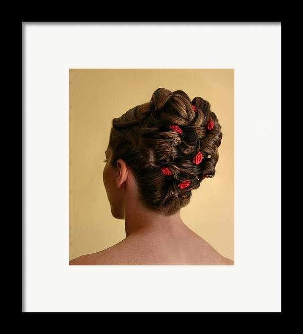 Hairstyle Framed Print featuring the photograph Rosettes by Kristin Elmquist