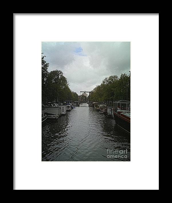 Rotterdam Framed Print featuring the photograph Rotterdam Canal by Gloria J Berger