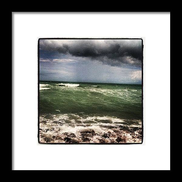 Ocean Framed Print featuring the photograph Rough Waters by Lea Ward
