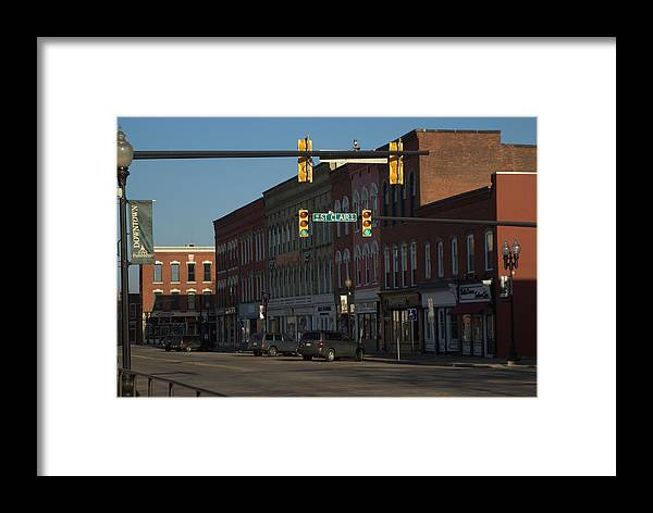 Small Town Framed Print featuring the photograph Round Town Spring 2 by Rachel Porostosky