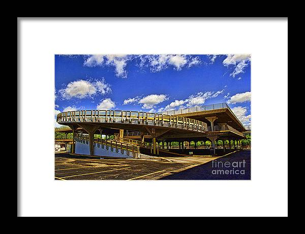 Architecture Framed Print featuring the photograph Roundabout by Gib Martinez