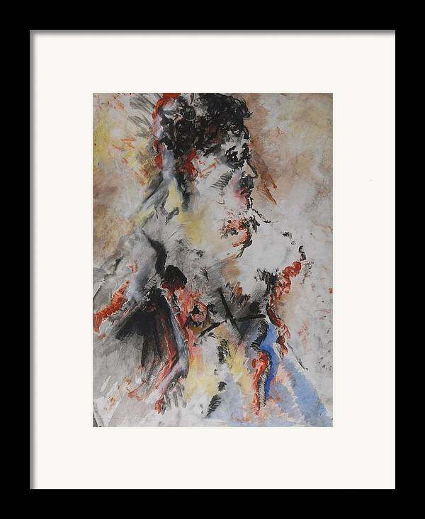 Fine Art Framed Print featuring the mixed media Royalty by Iris Gill