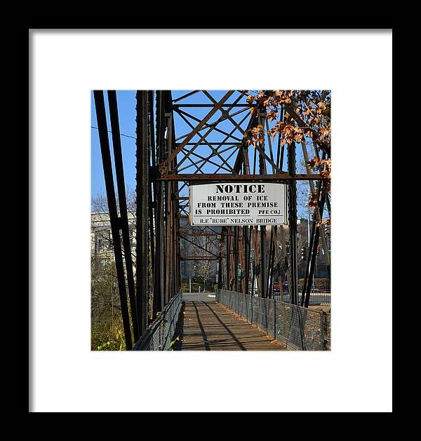Bridge Framed Print featuring the photograph Rube Nelson Bridge 2 by Bill Owen